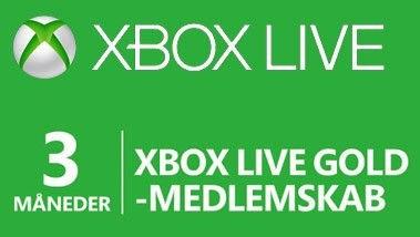 Xbox Live Gold Card 3 Måneder (Xbox One & Xbox 360)