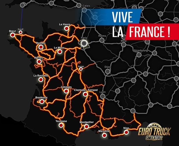 BUY Euro Truck Simulator 2 - Vive la France ! Steam CD KEY