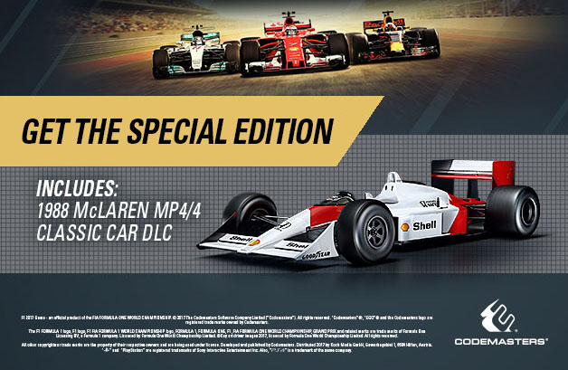 F1 2017 Special Edition indhold